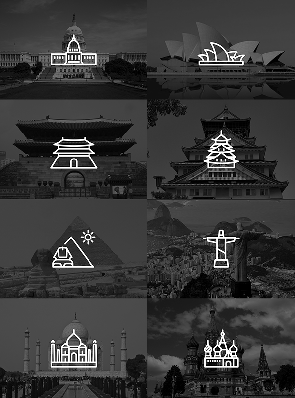 Touristic icon design