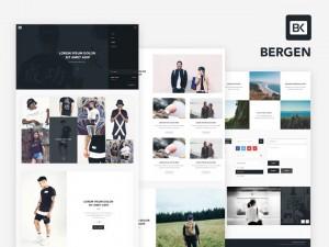Bergen : Free UI Kit PSD