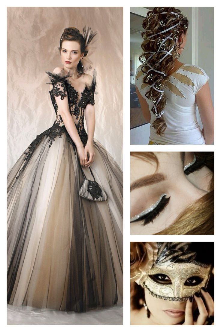 Black and White | Dresses | Pinterest | Black And White, Masquerades and Make Up