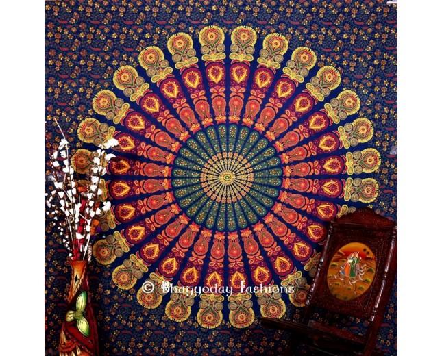 Mirchi Kali Mandala Tapestry
