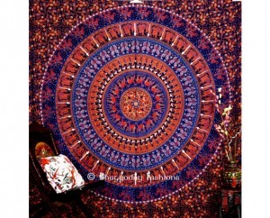 Blue Indian Ethnic Mandala Tapestry