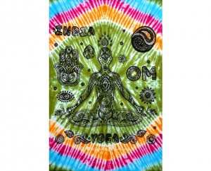 Rainbow Color Indian Yoga Tapestry wall Hanging