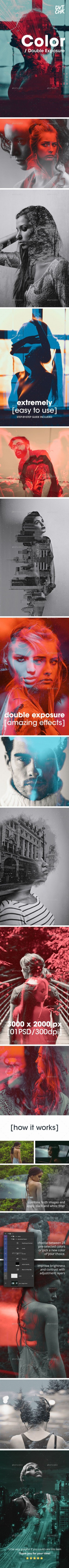 Color – Double Exposure Photoshop Photo Template | Abstract Photography | Pinterest | Doub ...