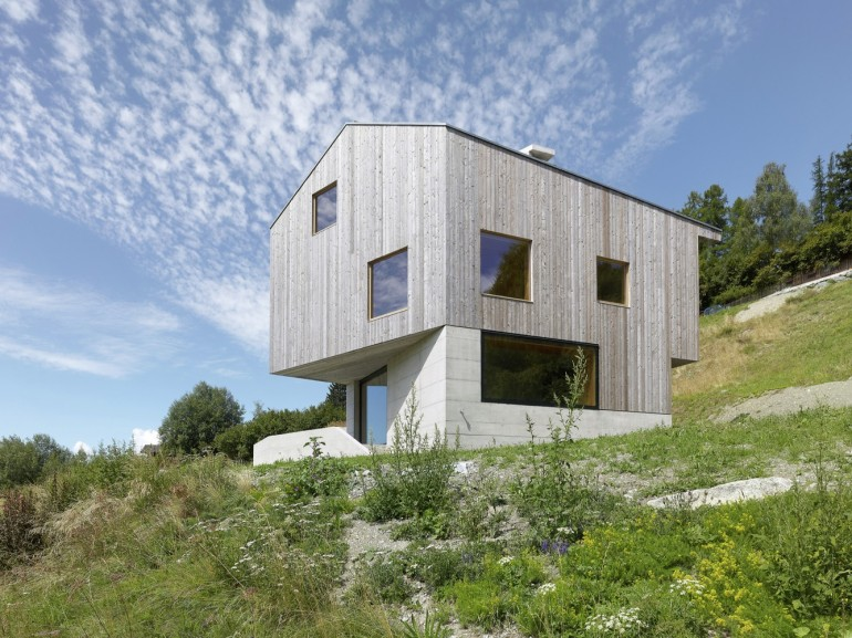 Concrete Cottage Covered with Wood Cladding in the Val d'Hérens