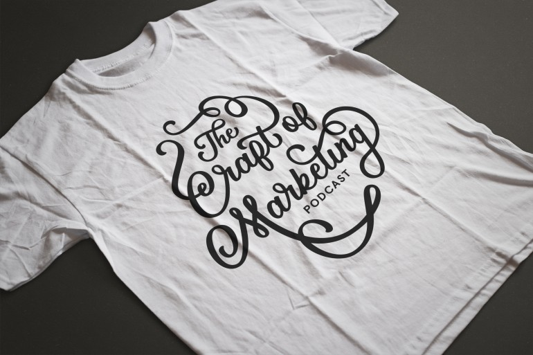 """Craft of Marketing"" hand drawn typography shirt design by Jenna Bresnahan"