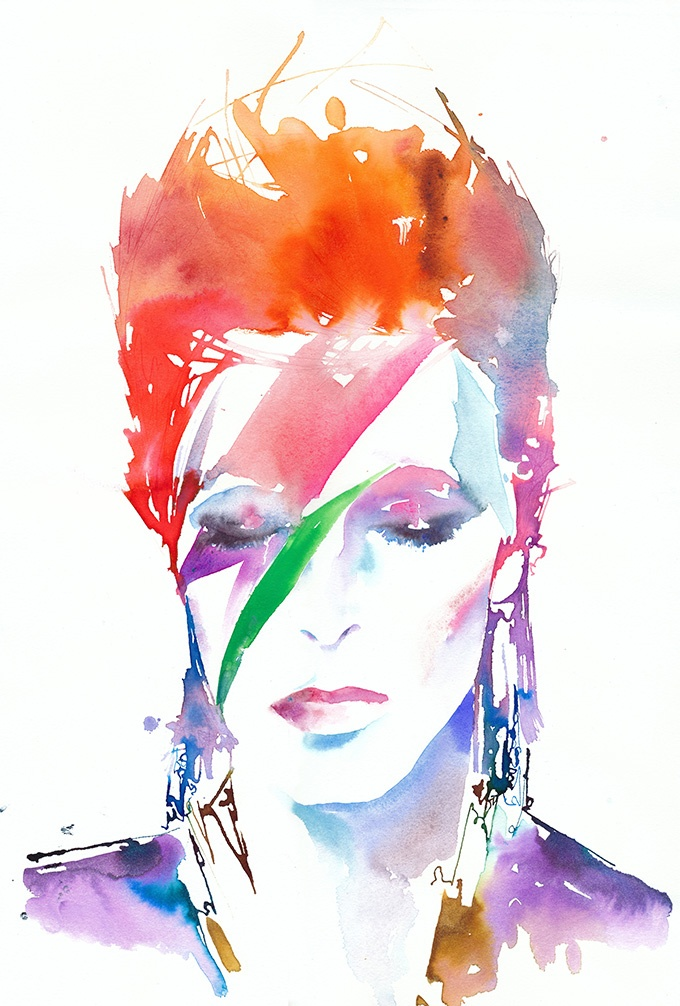 David Bowie by Cate Parr | fashion-passion-illustration | Pinterest | David Bowie, David and Bea ...