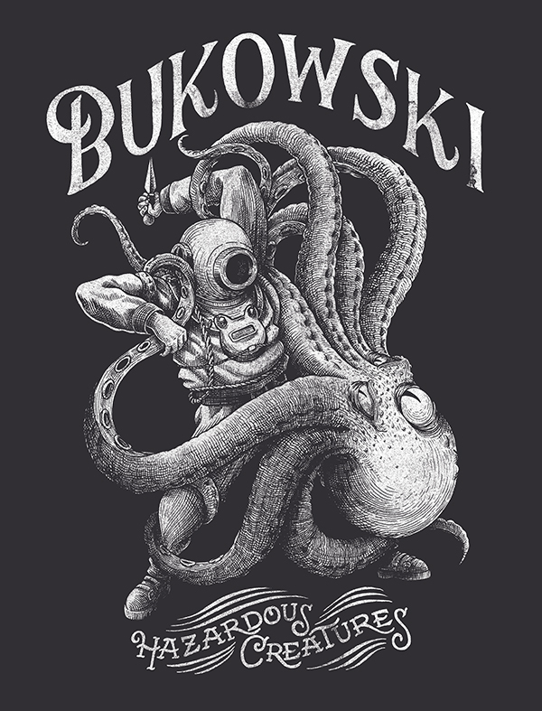 T-shirt design for the french band BUKOWSKI