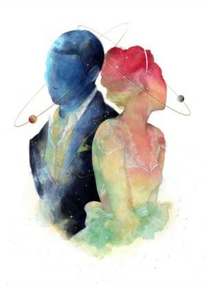 Galaxy Wedding Stationary by Caitlin Russell, via Behance | artsy | Pinterest | Galaxy Wedding, ...