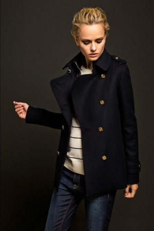 LIMITED EDITION NAVY TRENCH COAT – Massimo Dutti | My Style | Pinterest | Trench, Trench C ...