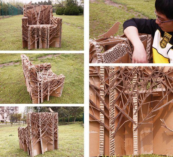 Live-life cardboard chair