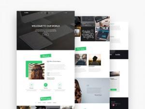 Matrix : Elegant Landing Page Template