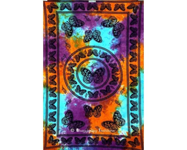 Woodland Butterfly Tapestry Wall Hanging