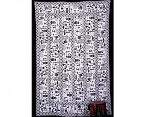 Black and White African Print Tapestry