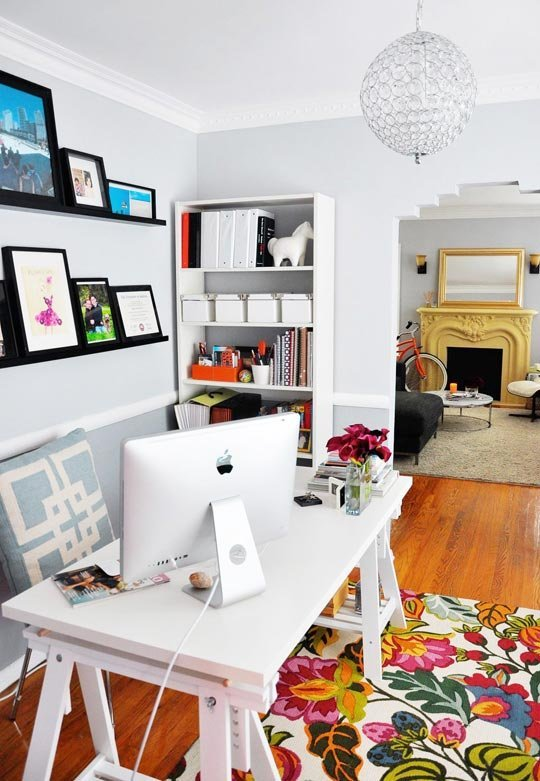 Rebecca's Loving Living Small Home Office