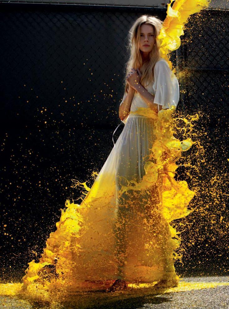 splash of yellow: Ieva Laguna & Tony Ward by Will Davidson for Russh #34 | Perception Pieces ...