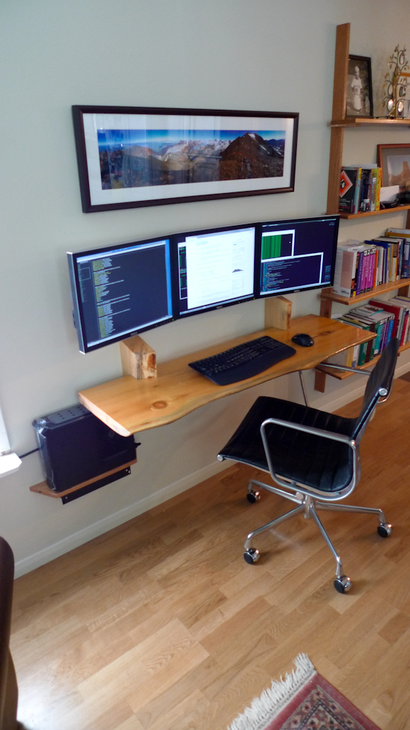 The Slimline Workspace: Hungarian Shelves and Hidden Cables
