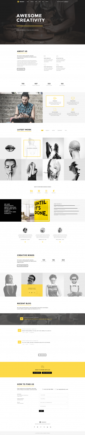 Brando Agency OnePage WordPress Theme