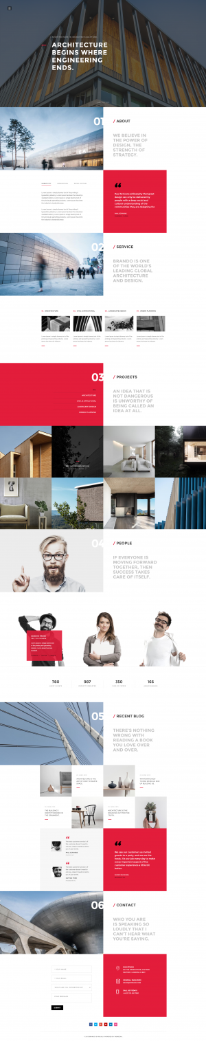 Brando Architecture OnePage WordPress Theme
