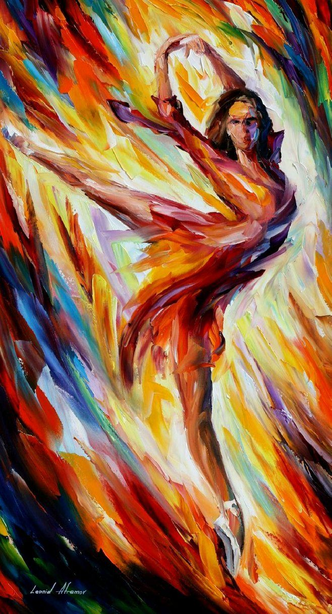 Transformation — PALETTE KNIFE Figure Oil Painting On Canvas By Leonid Afremov – Size: 20& ...