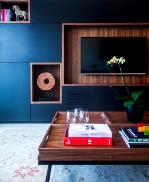 Trendy Dark Colored Apartment in Tel Aviv – InteriorZine