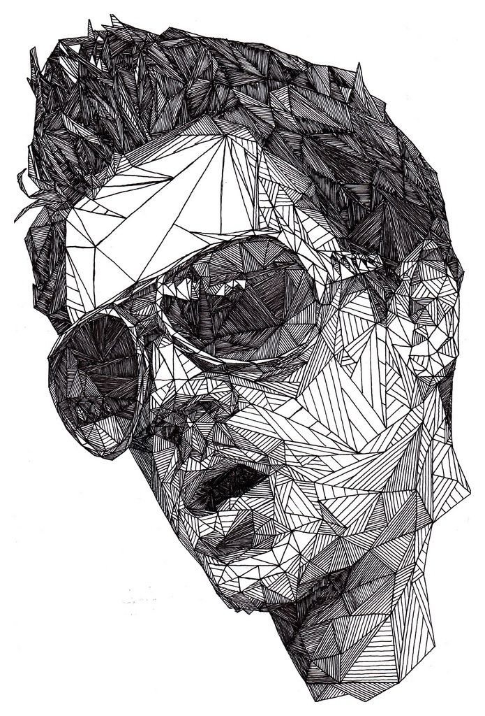 Triangulations :: Black pen portraits by Josh Bryan | illustration | Pinterest | Pens, Portraits ...