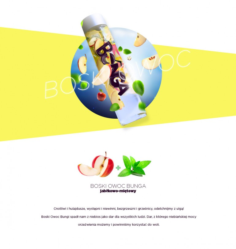 Bunga – napój owocowy. Smak: Boski Owoc. Bunga – fruit drink. Taste: Divine Fruit
