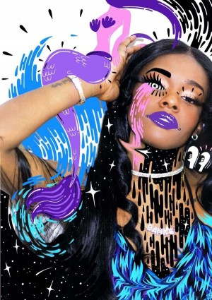 A collaboration for Azealia Banks, with photography by Jam Sutton featuring illustrations create ...