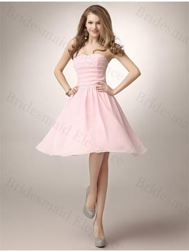 Blush Pink Short Bridesmaid Dress
