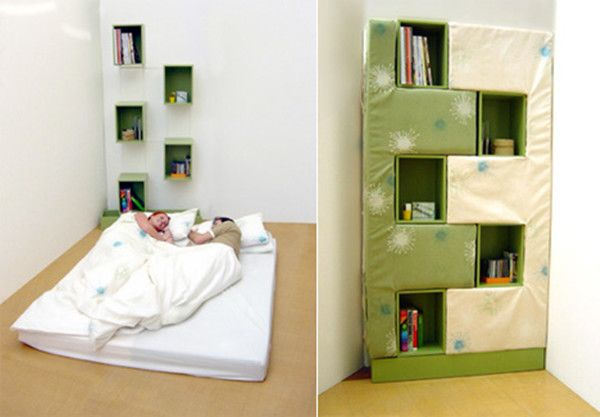 bookshelf bed on