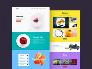 Cahee is a minimalistic and vibrant template suited for food related websites.