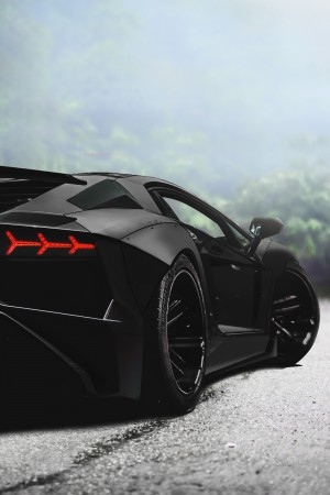 Envy Avenue. — Murdered Aventador.