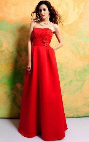 Fitted Long Discount Red Bridesmaid Dress