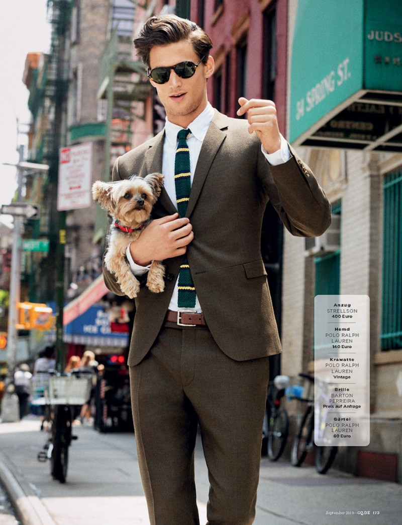 Garrett Neff Wears New Season's Formals for GQ Germany