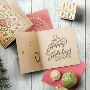 Hand drawn typography holiday card by Jenna Bresnahan