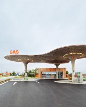 Gas station by atelier sad-slovakia