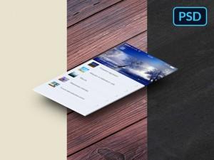 Isometric Perspective App Screens Mockup