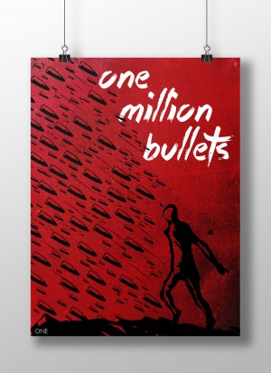 Poster for  Sia song one million bullets