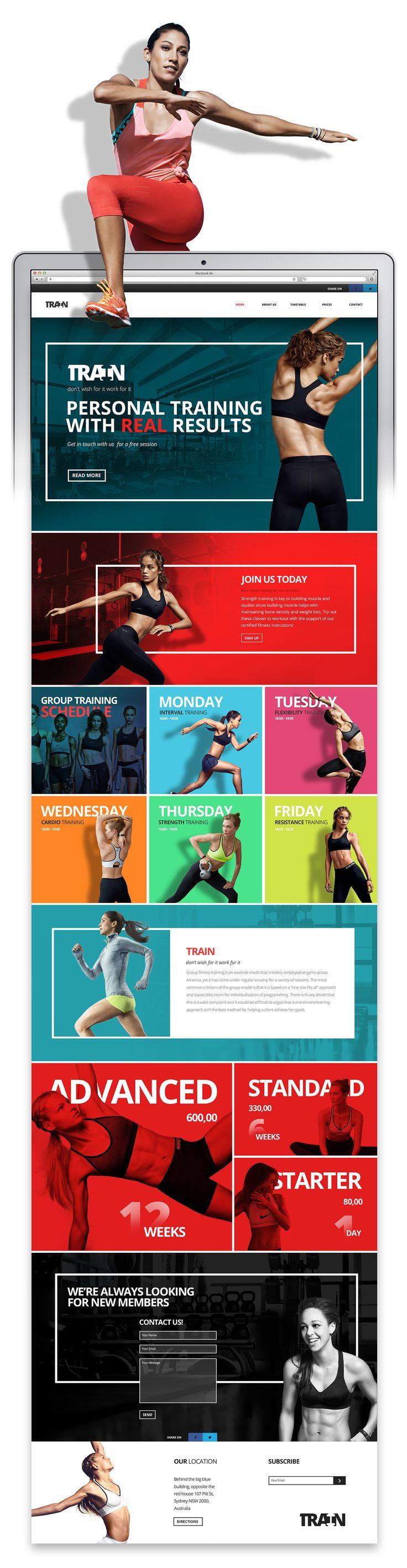 Personal training – Website concept on Behance | Branding | Fitness | Pinterest | Training ...