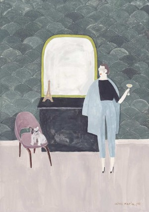 Sartorial Paintings by Sainte Maria | 2 Illustration Mag