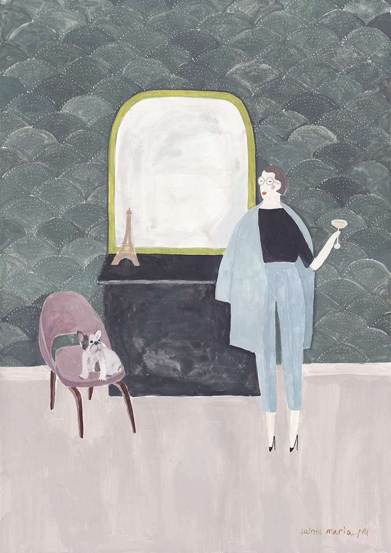 Sartorial Paintings by Sainte Maria | 2 Illustration Mag