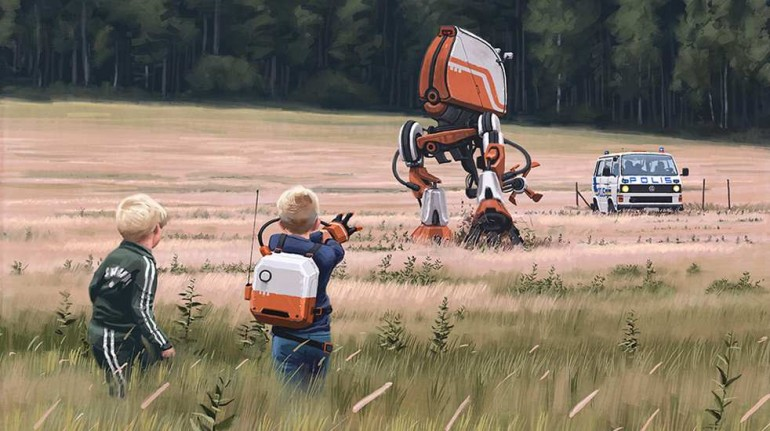 Sci-Fi Dystopia Paintings by Simon Stålenhag | 2 Illustration Mag
