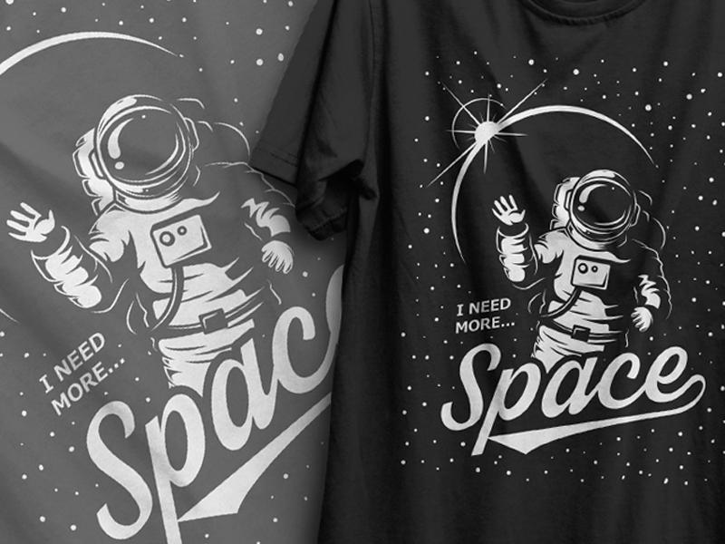 Vector Logo design. Space theme.