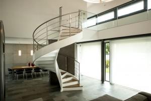 Villa Cattelan Salgher with Rizzi's Sculptural Spiral Staircase – InteriorZine