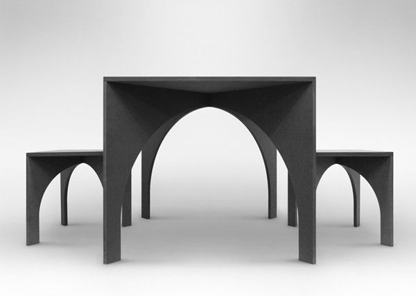 Arch table by Graft Object