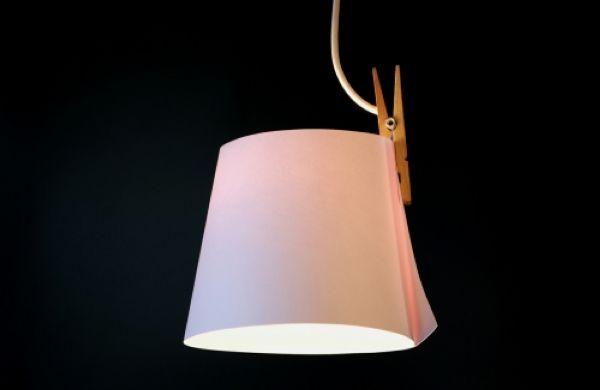 Clip lamp by Kazuhiro Yamanaka