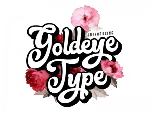 Say Hello to Goldeye Type! A hand-drawn irregular shaped font wich adds a natural touch to your ...