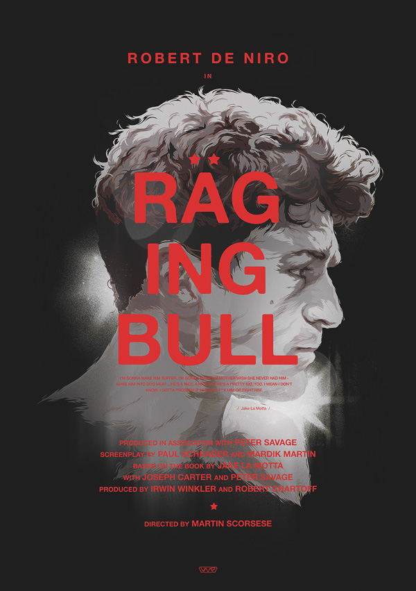 RAGING BULL – Vector Movie Posters
