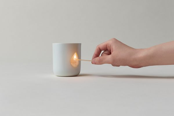 Flame candle holder by Yuki Funakoshi