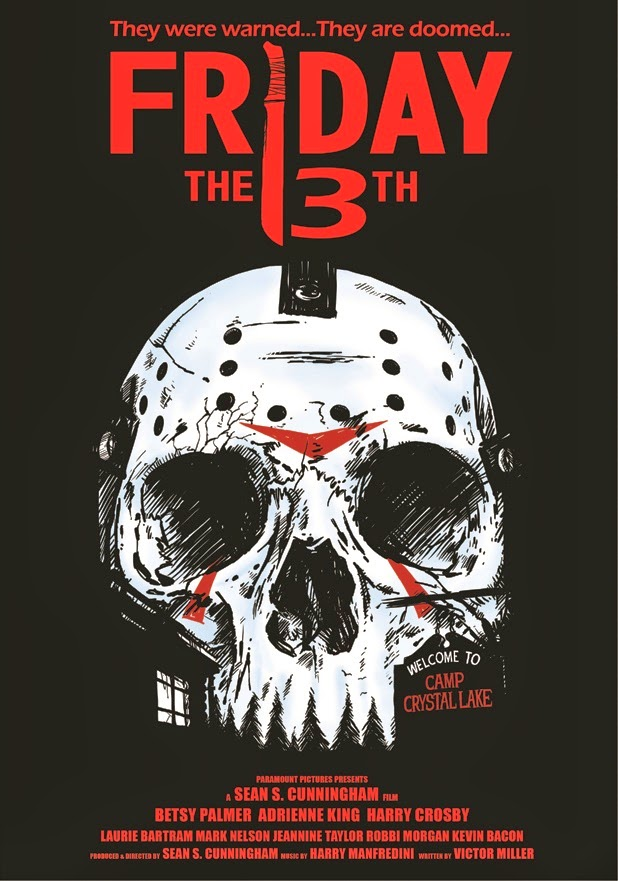 Friday The 13th Part Of Skull Inspired Horror Movie Poster Series
