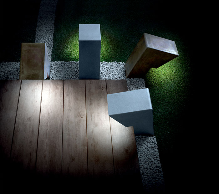 Garden Lamp of Metal and Glass by Christian Piccolo – #lamp, #design, #lighting, #outdoor,
